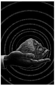 Fabian Fröhlich, Illustration, Otto Hipp, Das zuckende Herz