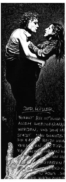 Fabian Fröhlich, Illustration, Christoph Kleinhubbert, Der Küsser