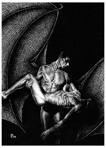Zeichnung für Tagungsband Der dunkle Mythos