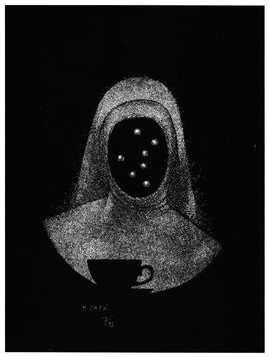 Fabian Fröhlich, Illustration, Christian Dörge, Im Café