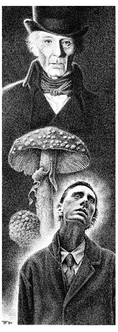 Fabian Fröhlich, Illustration, Uwe Voehl, Der Tag an dem Peter Cushing verschwand