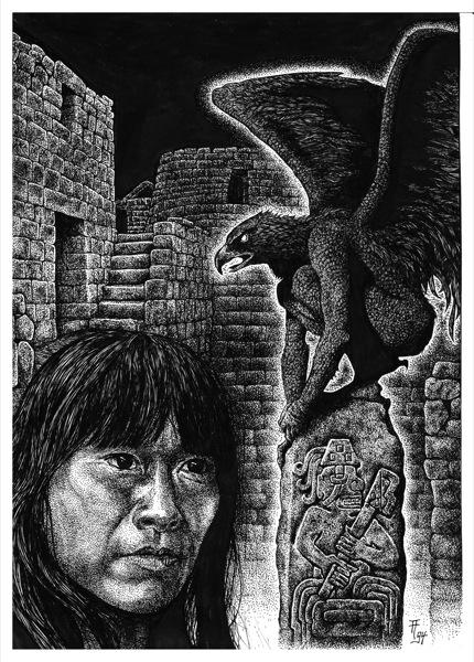 Fabian Fröhlich, Illustration, Dämonenland, Earl Warren, Der Fluch des Inka