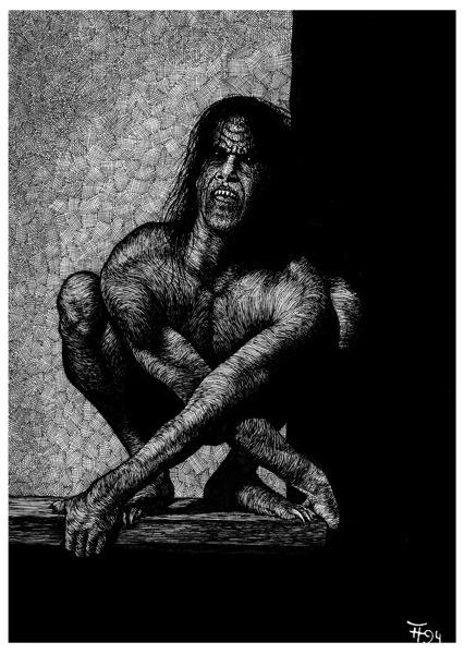 Fabian Fröhlich, Illustration, Dämonenland, T.R. Mahn, Das Monster aus der Tiefe