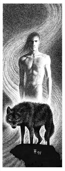 Fabian Fröhlich, Illustration, Dämonenland, R. Warner-Crozetti, Die Kapuzenmänner