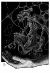 Illustration, Dämonenland, Hugh Walker, Bestien der Nacht