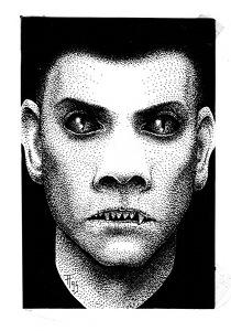 Illustration, Dämonenland, Wolfgang Hohlbein, Raven, Das Phantom der U-Bahn