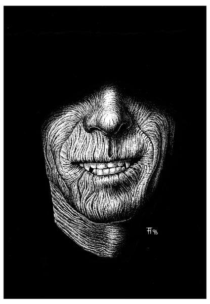 Illustration, Dämonenland, Werner Kurt Giesa, Manfred Weinland, Die Vampir-Klinik