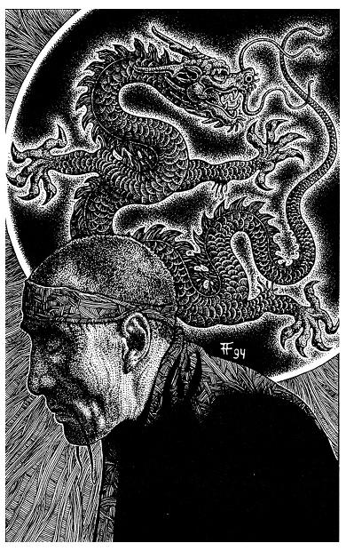 Fabian Fröhlich, Illustration, John Sinclair, Jubiläumsband, Die Nacht des schwarzen Drachen