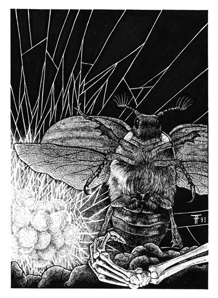 Fabian Fröhlich, Illustration, Professor Zamorra, Attacke der Riesenkäfer