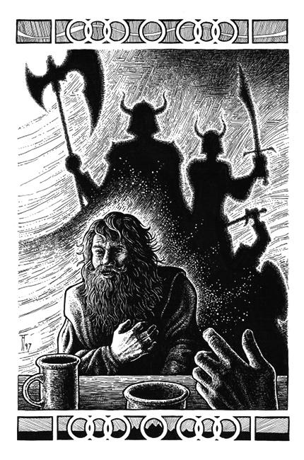 Fabian Fröhlich, Illustration, Helmut W. Pesch, Horst von Allwörden, Ringe der Macht