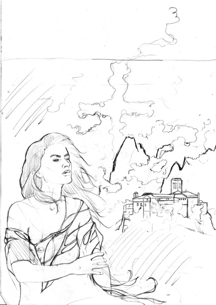 Vampira, Der Hort der Wächter, Skizze