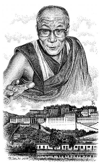 Fabian Fröhlich, Illustration, Loewe, Hoevelmann, Dalai Lama