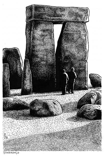 Fabian Fröhlich, Stonehenge, Illustration, Loewe, Hoevelmann