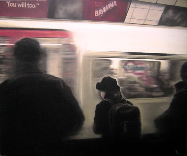 Fabian Fröhlich, Oil painting, London Underground, Victoria
