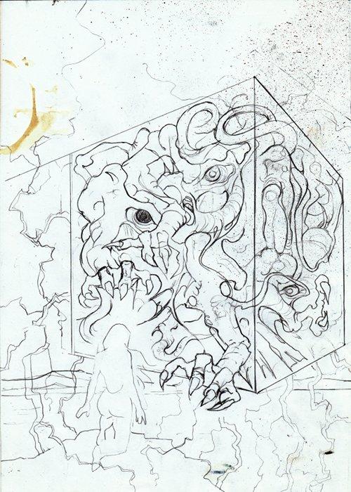 Vampira Band 13, Traumzeit-Dämonen, Vorzeichnung