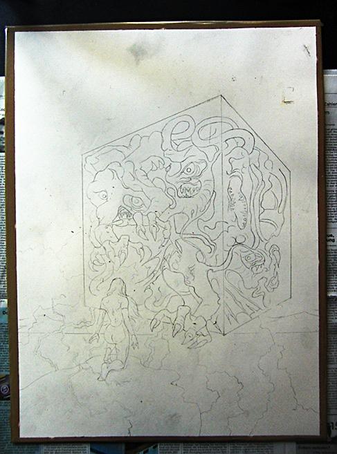 Vampira Band 13, Traumzeit-Dämonen, Zeichnung