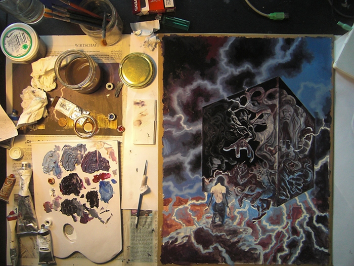Vampira Band 13, Traumzeit-Dämonen, erste Ölschicht